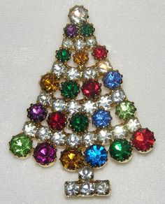 Lord & Taylor Christmas Tree Pin ~ Mint in Original Box