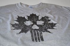 Canadian military t shirt army maple leaf skull