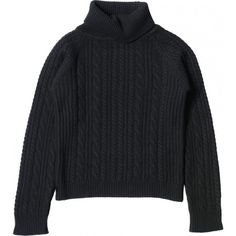 CABLE SKI JUMPER (6.730 ARS) ❤ liked on Polyvore featuring tops, sweaters, shirts, long sleeved, long sleeve shirts, long sleeve sweater, ski shirts, cable knit sweater and long-sleeve shirt