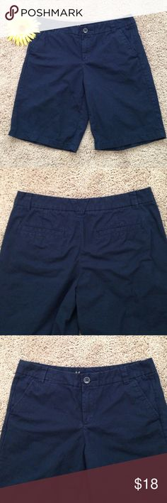 Gap Boyfriend Roll-Up Shorts Gap boyfriend roll-up, navy shorts. Roll them to any length you want. These were washed once, never worn. Great condition!!! GAP Shorts