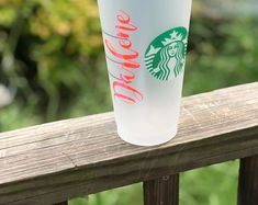 Monogramming Gifts Special Occassions & More by MadeInHisImageShop Cute Birthday Gift, Birthday Cup, Birthday Ideas, Starbucks Birthday, Starbucks Christmas, Trending Christmas Gifts, Cute Christmas Gifts, Personalized Tumblers, Personalized Gifts