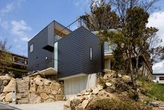 "The Krampon Residence ""Climbs"" Its Steep Rocky Site   Nimvo - Interior Design & Luxury Homes"