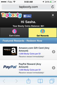If you like playing social games and earning real world rewards from Tapbooty. Use the referral link below, and I get extra credit too! Check it out: https://www.tapbooty.com/r/Uwn3uuy/