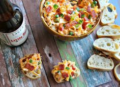 Cheese? Beer? Bacon? It's the ultimate trifecta - Spicy Beer-Cheese Dip with Bacon