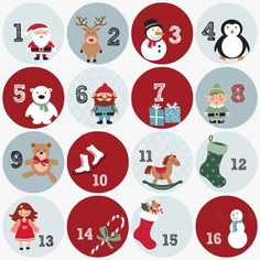 Free printable advent numbers