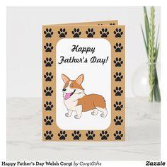 Free Fathers Day Cards, Happy Fathers Day, Birthday Fun, Friend Birthday, Birthday Cards, Farthers Day Card, Corgi Cartoon, Celebration Day, Corgi Dog