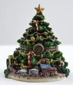 Boyds Bears Kringle's Christmas Tree w/Frazier McNibble - Resin Treasure Box