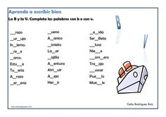 actividades de ortografía para imprimir Math Equations, Education, Learning, School, Diana, Google, Frases, Reading Comprehension, Vocabulary