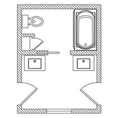 small jack and jill bathroom floor plans - Google Search