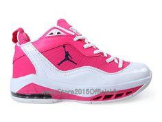 Jordan Melo M8 (Carmelo Anthony) GS - Baskets Jordan Pas Cher Pour Femme/Fille Pink/Blanc 469787-ID2 Jordan Tenis, Jordans Sneakers, Air Jordans, Baskets Jordan, Basket Nike, Basket Ball, T 4, Sportswear, Air Jordan