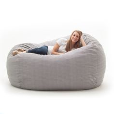 Spend hours relaxing in this comfortable and durable XXL FufSack memory foam lounge bean bag chair. The FufSack bean bag chair is perfect to use while watching movies, reading a book, or playin Teen Lounge Rooms, Teen Game Rooms, Teen Hangout Room, Kids Living Rooms, Bean Bag Lounge Chair, Lounge Sofa, Lounge Seating, Blue Dining Room Chairs, Leather Dining Room Chairs