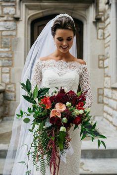 Cranberry-colored bouquet   Charis Rowland