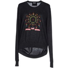 Markus Lupfer Jumper (335 CAD) ❤ liked on Polyvore featuring tops, sweaters, steel grey, gray top, jumpers sweaters, grey top, markus lupfer sweater and gray sweater