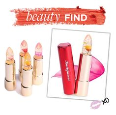 """""""Beauty Find: Kailijumei Lipstick"""" by polyvore-editorial ❤ liked on Polyvore featuring beautyfind"""
