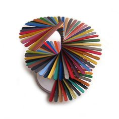 Amazing piece of art! Nathalie Chikhi with popsicle sticks!