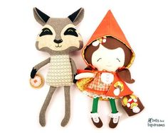Little Red and Wolf Sewing Pattern - Dolls And Daydreams