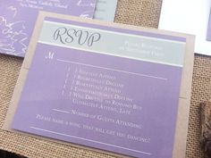 Cheeky RSVP Card with Kraft Envelope