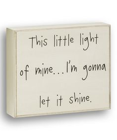 Love this White 'This Little Light' Box Sign on #zulily! #zulilyfinds