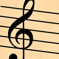 music staff paper treble clef