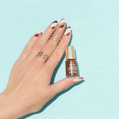 Elegant fall nail design with Mavala firenze    Brown nails