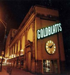 A sign you're in Chicago? Goldblatts sign in Uptown (Chicago Pin of the Day, 11/15/2014).