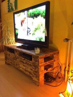 DIY Pallet TV Stand - 150+ Wonderful Pallet Furniture Ideas | 101 Pallet Ideas - Part 9
