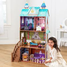 13d7379e9c37d3 KidKraft Disney® Frozen - Die Eiskönigin Elsa Arendelle Palace Puppenhaus  Schloss aus Holz mit