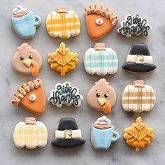 Mini Cookies, Fall Cookies, Cut Out Cookies, Iced Cookies, Cute Cookies, Royal Icing Cookies, Holiday Cookies, Halloween Cookies, Cupcake Cookies