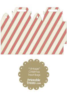 Vintage Christmas Stripes Treat Bag from PrintableTreats.com