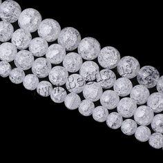 Crackle Quartz Beads Round natural white Approx Inc,china wholesale jewelry beads Crystal Beads, Gemstone Beads, Glass Beads, Crystals, Semi Precious Beads, Lampwork Beads, Wholesale Jewelry, Beaded Jewelry, Quartz