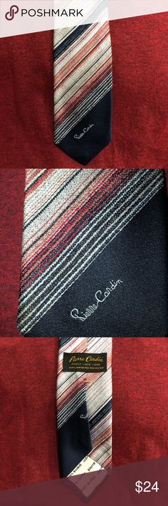Vintage Pierre Cardin Neck Tie This Pierre Cardin tie is timeless and classy. Diagonal design multicolor. You can't go wrong with this classic! Pierre Cardin Accessories Ties