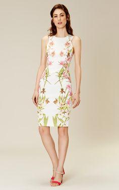 Karen Millen Lily-print pencil dress