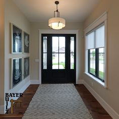 Bring the outside in with an entry door and sidelights that welcome the day and your guests. Available in clear or textured glass (for privacy) and prefinished in any color you like. Find one of our dealers and your new front door. Exterior Doors, Entry Doors, Glass Texture, Farmhouse Style, Building, Fashion Design, Color, Home, Outdoor Gates