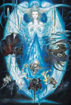 Amano CE art from Final Fantasy XIV: A Realm Reborn