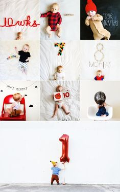 Ideias de fotos para registrar o desenvolvimento do bebê! - Just Real Moms