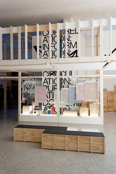 Experimental Jetset – Open: A Bakema Celebration. The Dutch contribution to Biennale Architettura, Venice, 2014 Graphic Design Tattoos, Graphic Design Studios, Display Design, Store Design, Signage Design, Branding Design, Packaging Design, Exhibition Display, Exhibition Ideas