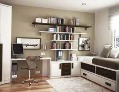 moderne-weiße-Möbel-Teenager-Schlafzimmer