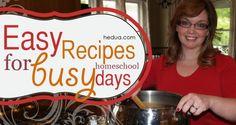 Easy Recipes For Busy Homeschool Days #mealplanning #recipes hedua.com