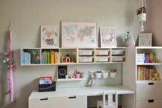 Baby Room Design, Girl Bedroom Designs, Baby Room Decor, Kids Bedroom, Childrens Desk, Playroom Storage, Ikea Kids, New Wall, Girl Room