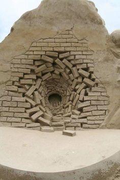 Narnia sand sculpture.  Hi Pevensies! Welcome back!