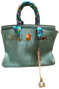 Herms Purse Hermes Birkin Satchel in Bleu Atoll