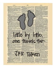 This 'One Travels Far' Tolkien Dictionary Print by Doodli-Do's is perfect! #zulilyfinds