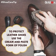 #ShoeCareTip - Use the cream and paste form, as liquid polish often dries out shoe leather and causes cracks.