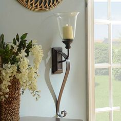 Campbell Hurricane Sconce | Kirklands