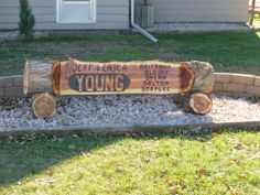 Rustic Cedar Log Yard Sign Wood Projects Pinterest Logs Signs And Rustic