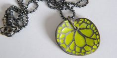 Silver &Enamel Pendant ,Leaf pendant , Green Leaf Pendant , Oxidized Silver Necklace ,Botanical jewelry , Begonia Jewelry by RonitBand on Etsy https://www.etsy.com/uk/listing/203111400/silver-enamel-pendant-leaf-pendant-green