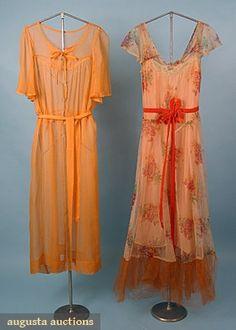 Augusta Auctions, March/April 2005 Vintage Clothing & Textile Auction, Lot 563: 2 Summer Dresses, 1930s