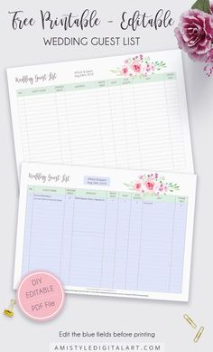 New wedding guest list printable awesome 68 ideas Wedding Guest List, Wedding Party Invites, Free Wedding, Party Invitations, Wedding Cake, Wedding Gifts, Wedding Binder, Wedding Planner, Wedding Checklist Printable