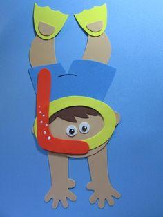 Deixe sua festa ainda mais bonita! Encante seus amigos e familiares com uma linda decoração!    Painel Mergulhador (menino ou menina) Festa Fundo do Mar feito em EVA    Tamanho do painel altura 38 cm com 17 cm de largura (mergulhador)   altura 38 cm. com 19 cm de largura (mergulhadora)  ,  Modelo... Preschool Rocket, Preschool Music Activities, Preschool Crafts, Felt Crafts Kids, Foam Crafts, Summer Bulletin Boards, Farm Animal Party, Painted Clay Pots, Under The Sea Theme