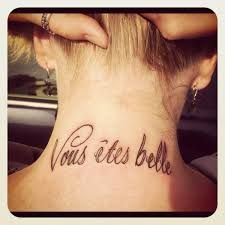 What does french tattoo mean? We have french tattoo ideas, designs, symbolism and we explain the meaning behind the tattoo. Piercing Tattoo, I Tattoo, Tattoo Quotes, Phrase Tattoos, Body Art Tattoos, Kendall Tattoo, Belle Tattoo, Modern Art Tattoos, French Tattoo